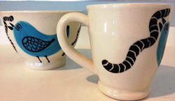 mug and bowl by Janice Holt