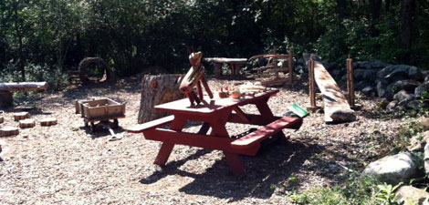 Nature Play area at Ipswich River Wildlife Sanctuary