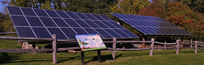 Solar array at Ipswich River Wildlife Sanctuary