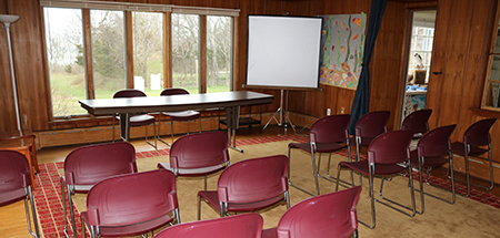 Conference room at Long Pasture Wildlife Sanctuary