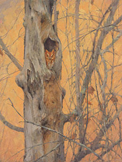 Autumn Roost by James Coe, oil on linen, 2016. © James Coe.