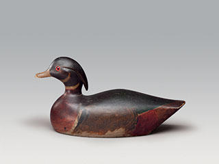 """Wood Duck Drake"", Tyzzer Rig, unknown carver"