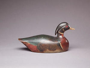 Wood Duck Drake by Benjamin W. Pease (1866-1938), Martha's Vineyard, MA. Collection of Thomas K. Figge.