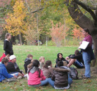 Homeschool group at Moose Hill Wildlife Sanctuary