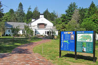 Exterior view of Moose Hill Wildlife Sanctuary's Visitor Center