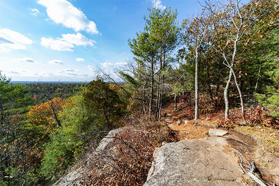 The overlook at Moose Hill Wildlife Sanctuary in autumn