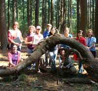 Teachers at a workshop at Moose Hill Wildlife Sanctuary