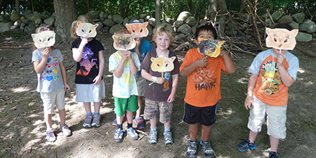 Campers at North River Wildlife Sanctuary