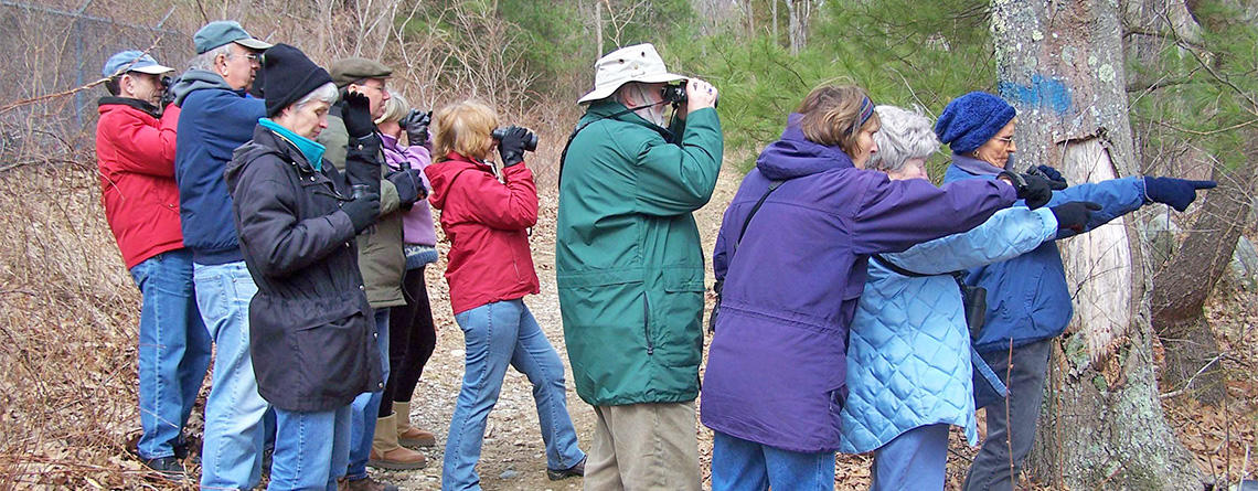 Friday Morning birders at North River Wildlife Sanctuary