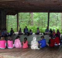 Schoolgroup at North River Wildlife Sanctuary