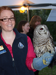 Owl demonstration with Blue Hills Trailside Museum