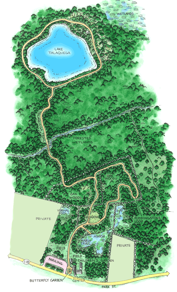 Oak Knoll Wildlife Sanctuary Trail Map