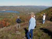 Group looking at the view at Mass Audubon Pleasant Valley Wildlife Sanctuary