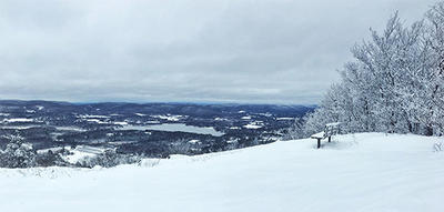 Winter view from Lenox Mountain summit