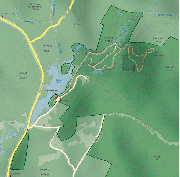 Rutland Brook Wildlife Sanctuary Trail Map