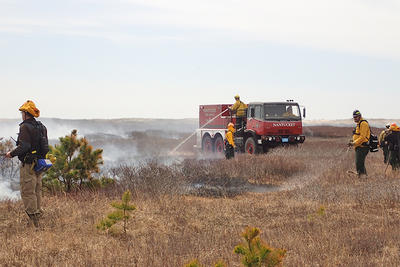Prescribed burn to manage habitat