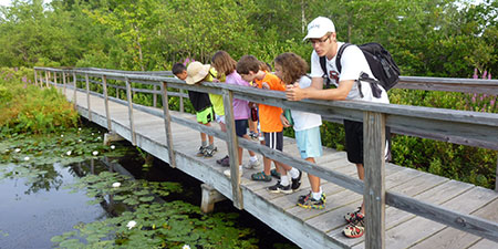 Campers at Stony Brook Wildlife Sanctuary Summer camp