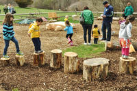 Kids stump jumping at Stony Brook