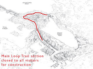 Main Loop Trail section closed for construction
