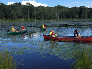 Canoeing at Wachusett Meadow