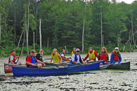 Group of people canoeing at Wachusett Meadow