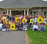 Wachusett Meadow naturalist at a school