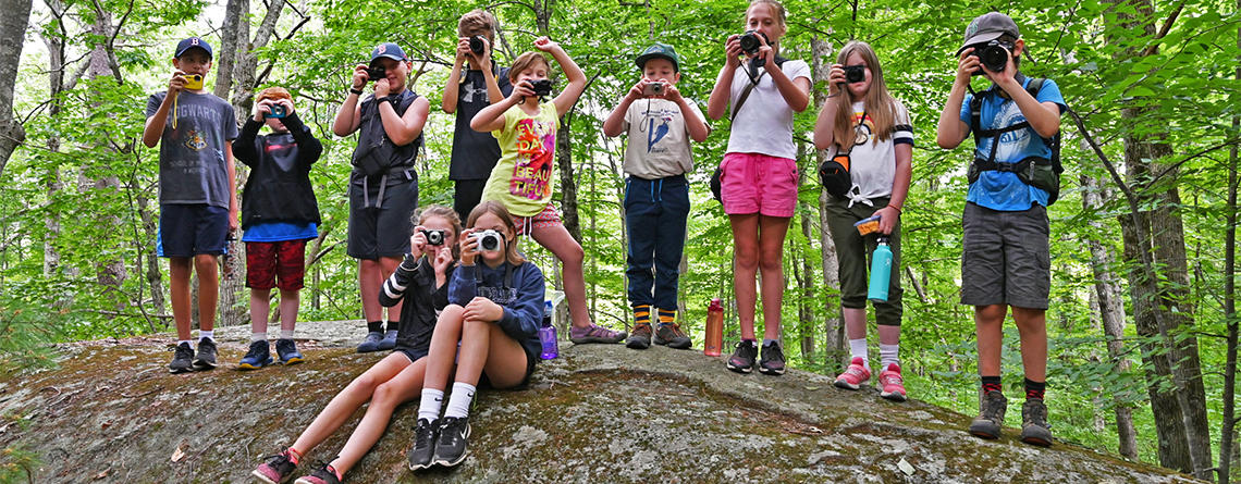 Wachusett Meadow campers at Photography Camp