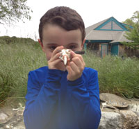 Preschool student at Wellfleet Bay Wildlife Sanctuary