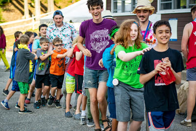 2019 Wildwood Overnight Camp - Campers Dance in a Conga Line