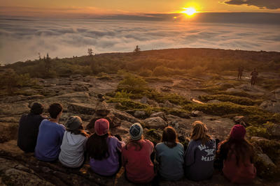 2019 Wildwood Teen Adventure Trip - Cadillac Mountain Sunset