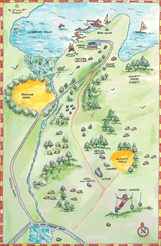 map of Wildwood Camp