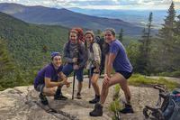 Wildwood Teen Adventure Trek group at top of hike