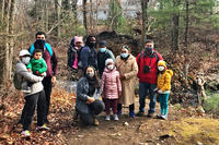 The kick-off BIPOC Outdoors group during Hike-A-Thon at MABA