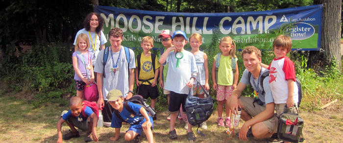 Camp group at Moose Hill Day Camp