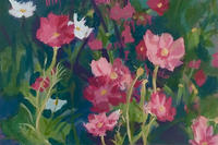 """Cosmos flowers"" painting © Ella Condon"