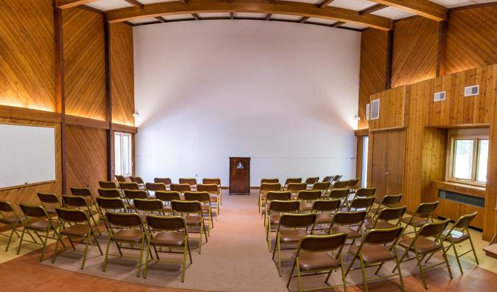 Arcadia Wildlife Sanctuary auditorium interior
