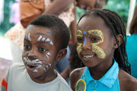 Kids with face paint at Butterfly Festival © K Higgins Photography