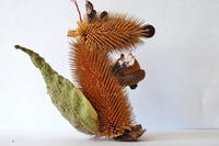 Squirrel ornament made from natural materials