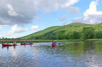 Canoeing on the Housatonic River in Berkshire County, MA