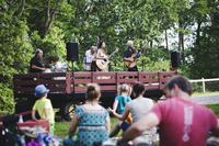 Band performing at Drumlin Farm's 2018 Summer Music Series