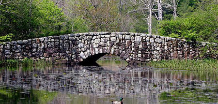 Stone Bridge at Waterfowl Pond © Fred Goodwin