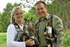 Marcia & Mark Wilson with a Great Horned Owl © Sherry Pearl