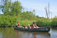 Campers canoeing at Ipswich River Nature Day Camps