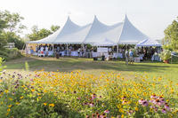 Event tent at Long Pasture's Summer Soiree