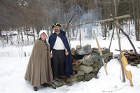 Colonial farmers at Moose Hill Wildlife Sanctuary's Maple Sugaring Weekends