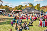 Farm Day food & games area at Daniel Webster Wildlife Sanctuary