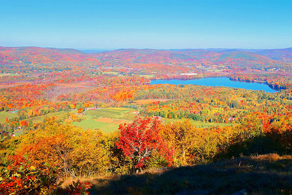 View of valley in fall from Pleasant Valley overlook © Brooks Payne