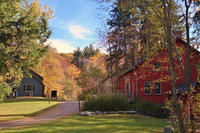 The historic barn in fall at Pleasant Valley Wildlife Sanctuary