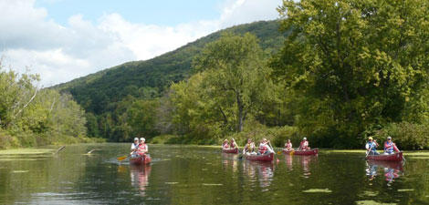 Canoeing at Pleasant Valley Wildlife Sanctuary
