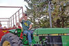 A tractor hayride at Hey Day © Bruce Dean